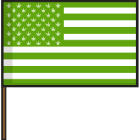 Flags United States of Weed