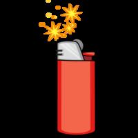 Objects & Symbols Lighter Sparking